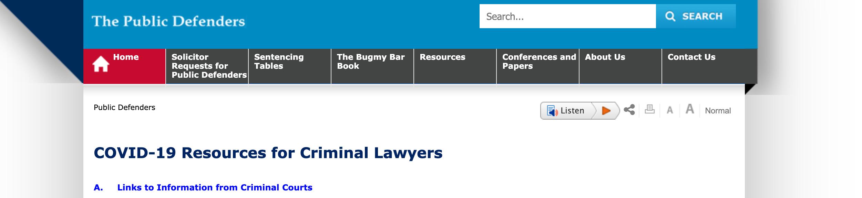 Covid 19 New South Wales Bar Association